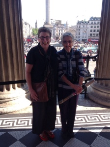 Mum and I on the steps of the National Gallery. That's Nelson's Column in the background. Sadly the Czech tourist who took the photo cut his head off!
